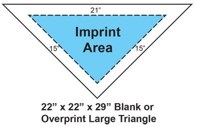 "22"" x 22"" Bandanna Imprint Area"