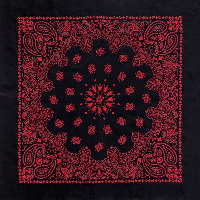 B27PAI-100037 Austin Paisley Black-Red