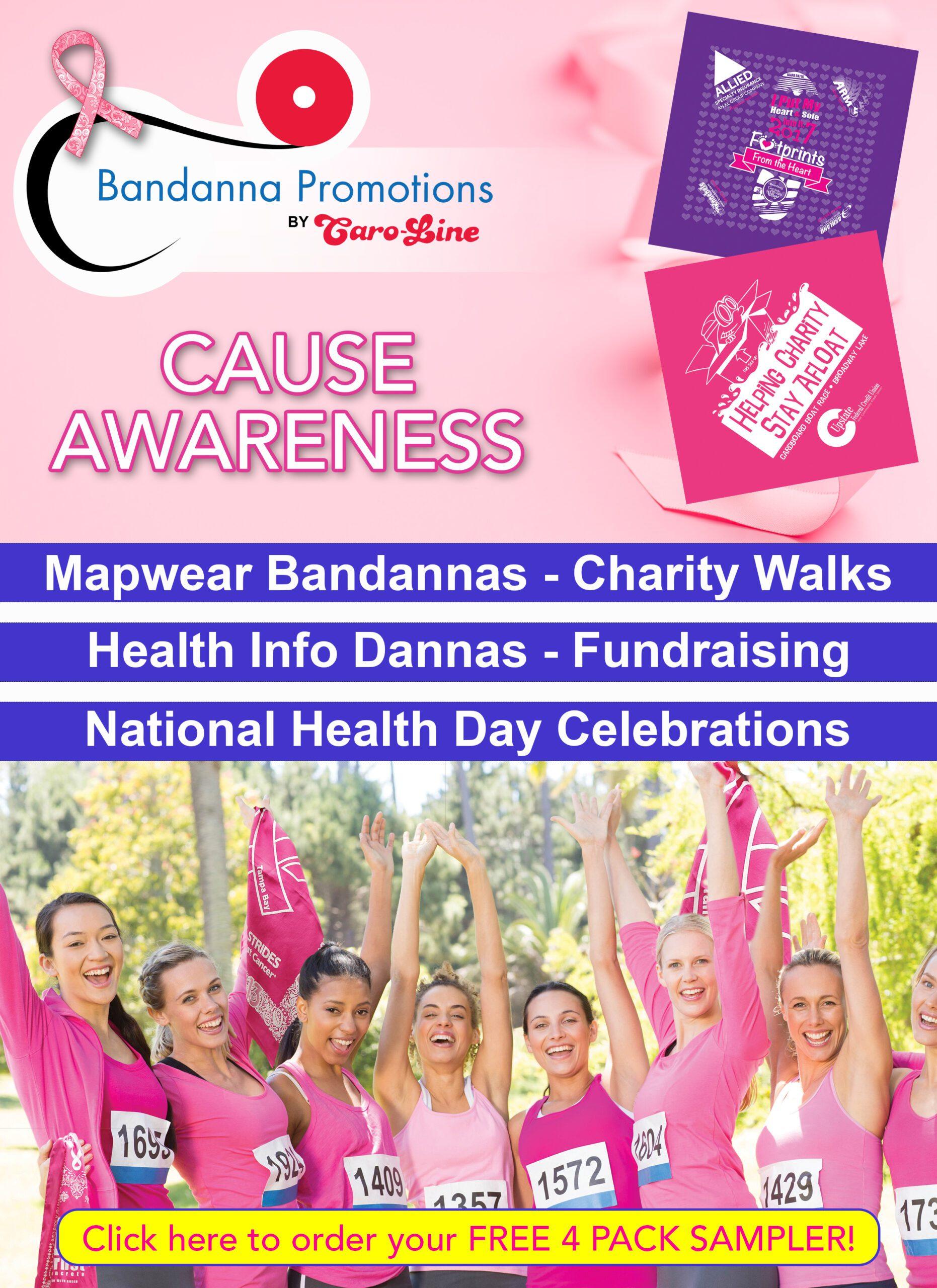 cause awareness flyer breast cancer charity walks