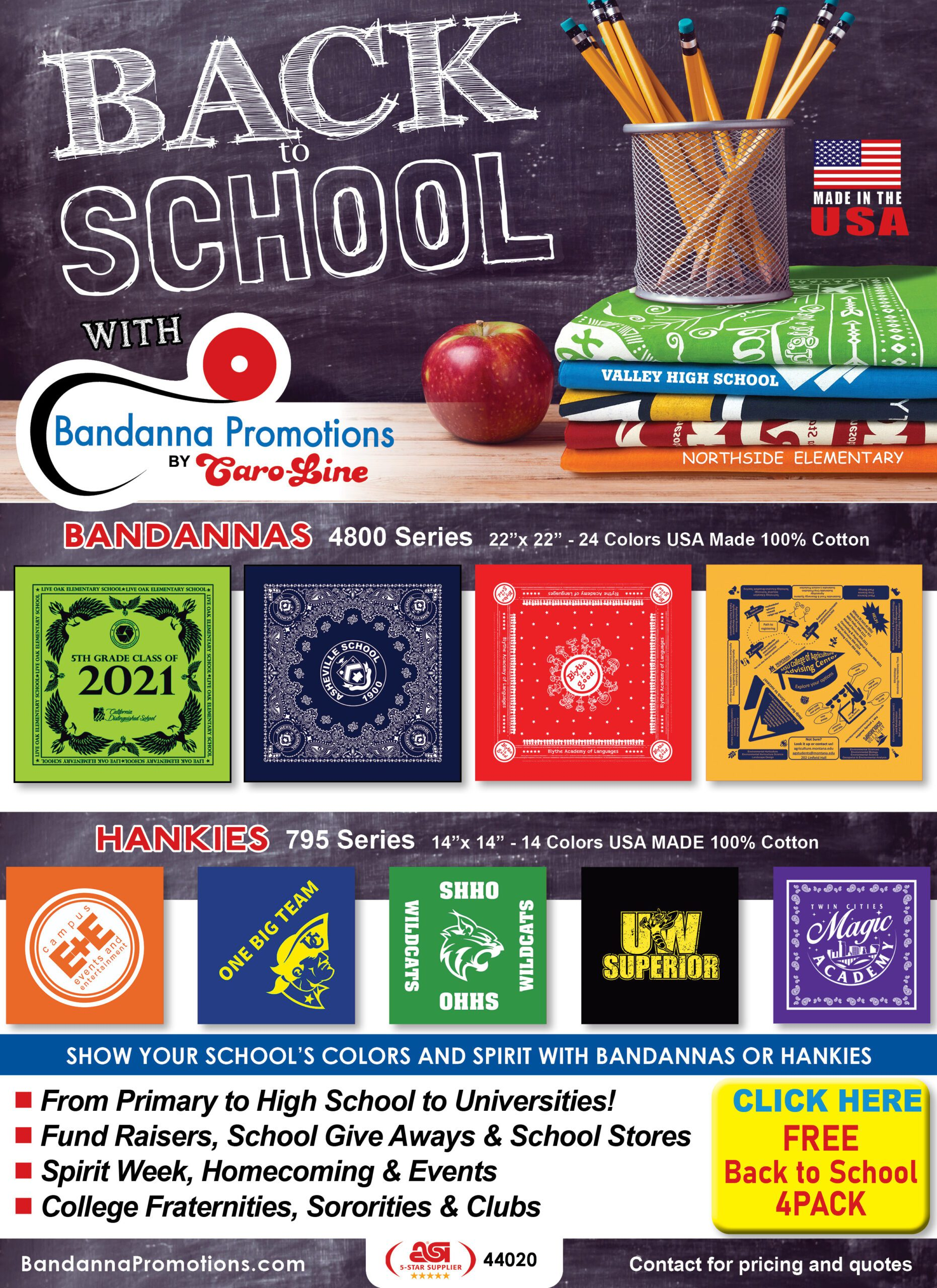 back to school product flyer