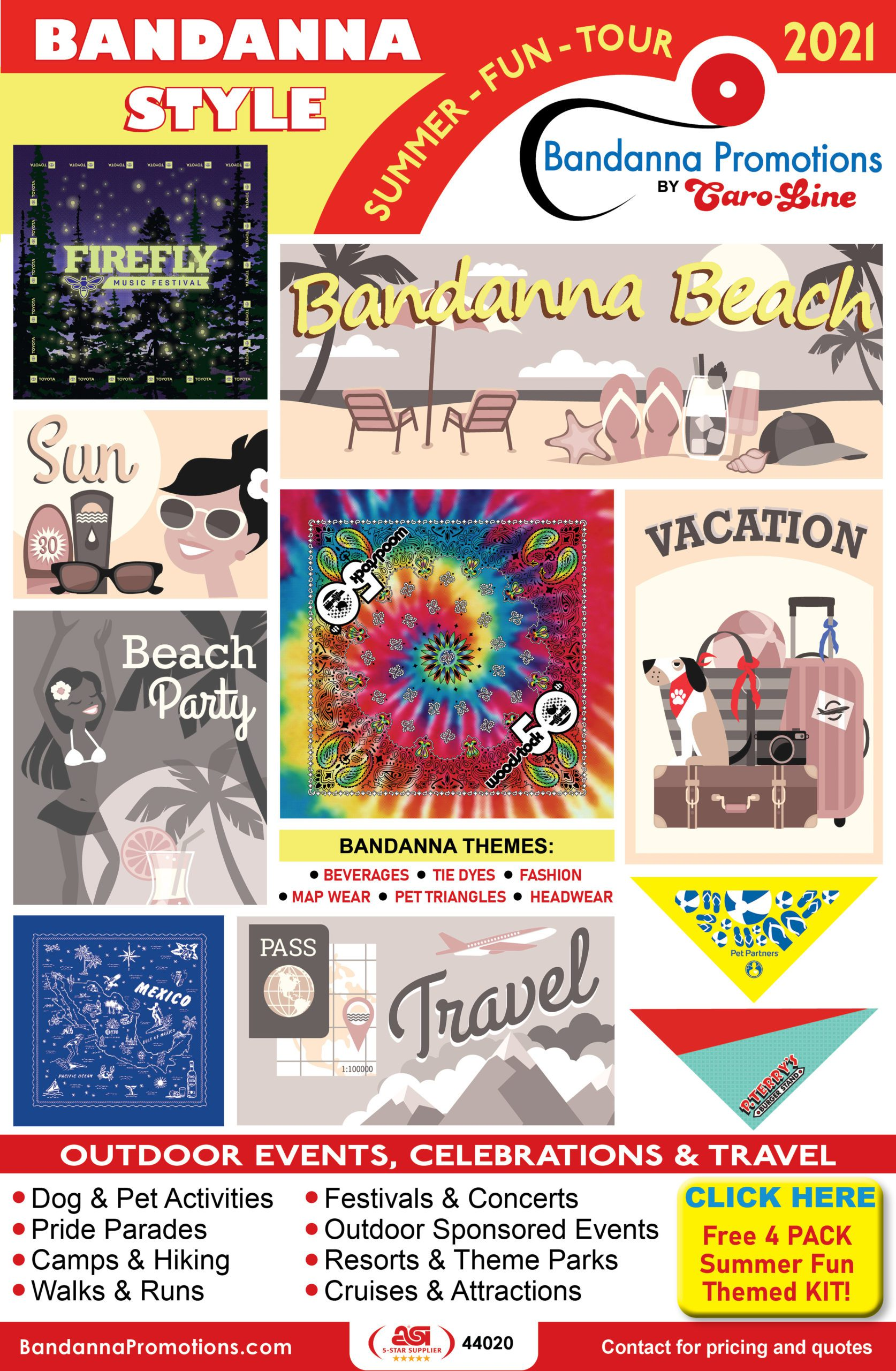 Image showing Bandanna Promotions various ways of creating bandannas.